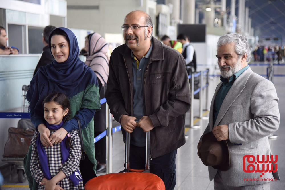 شیلا خداداد، محمد بحرانی و مهدی هاشمی در سریال «گلشیفته»
