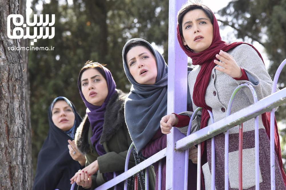 شیلا خداداد، مهناز افشار، بهاره کیان افشار و نازنین بیاتی در سریال «گلشیفته»