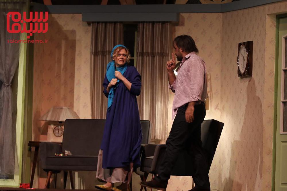 میثاق زارع و غزاله نظر در تئاتر «اعتراف»
