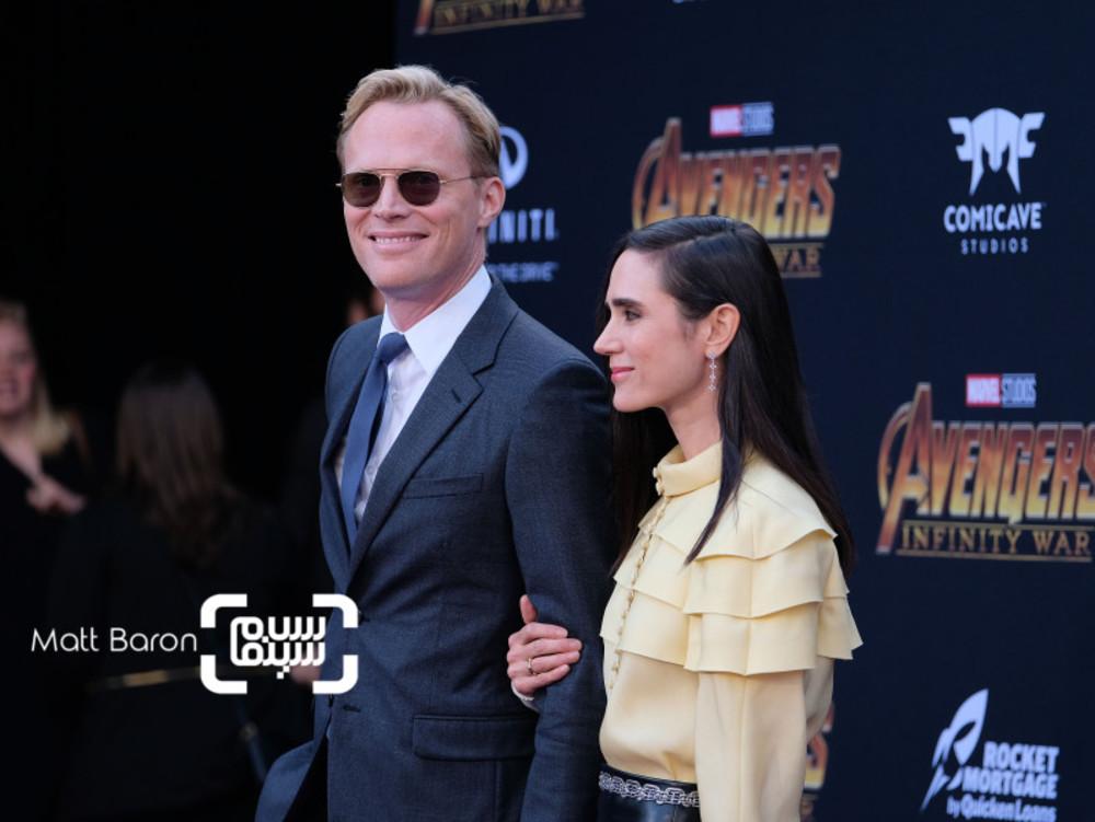 جنیفر کانلی و همسرش پل بتانی در اکران فیلم «انتقام جویان-جنگ ابدیت»(Avengers: Infinity War) در لس آنجلس