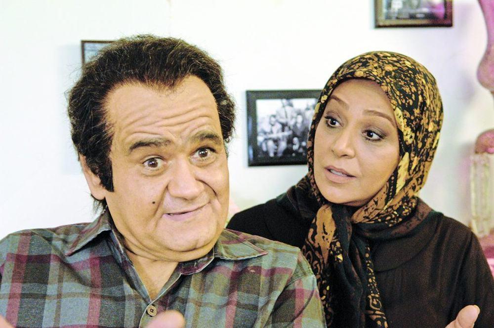 اکبر عبدی و نسرین مقانلو در فیلم «چهار اصفهانی در بغداد»