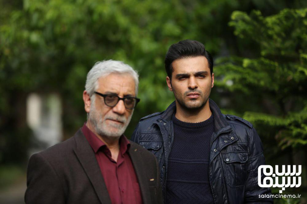 سامان صفاری و مسعود رایگان در سریال «دل دادگان»