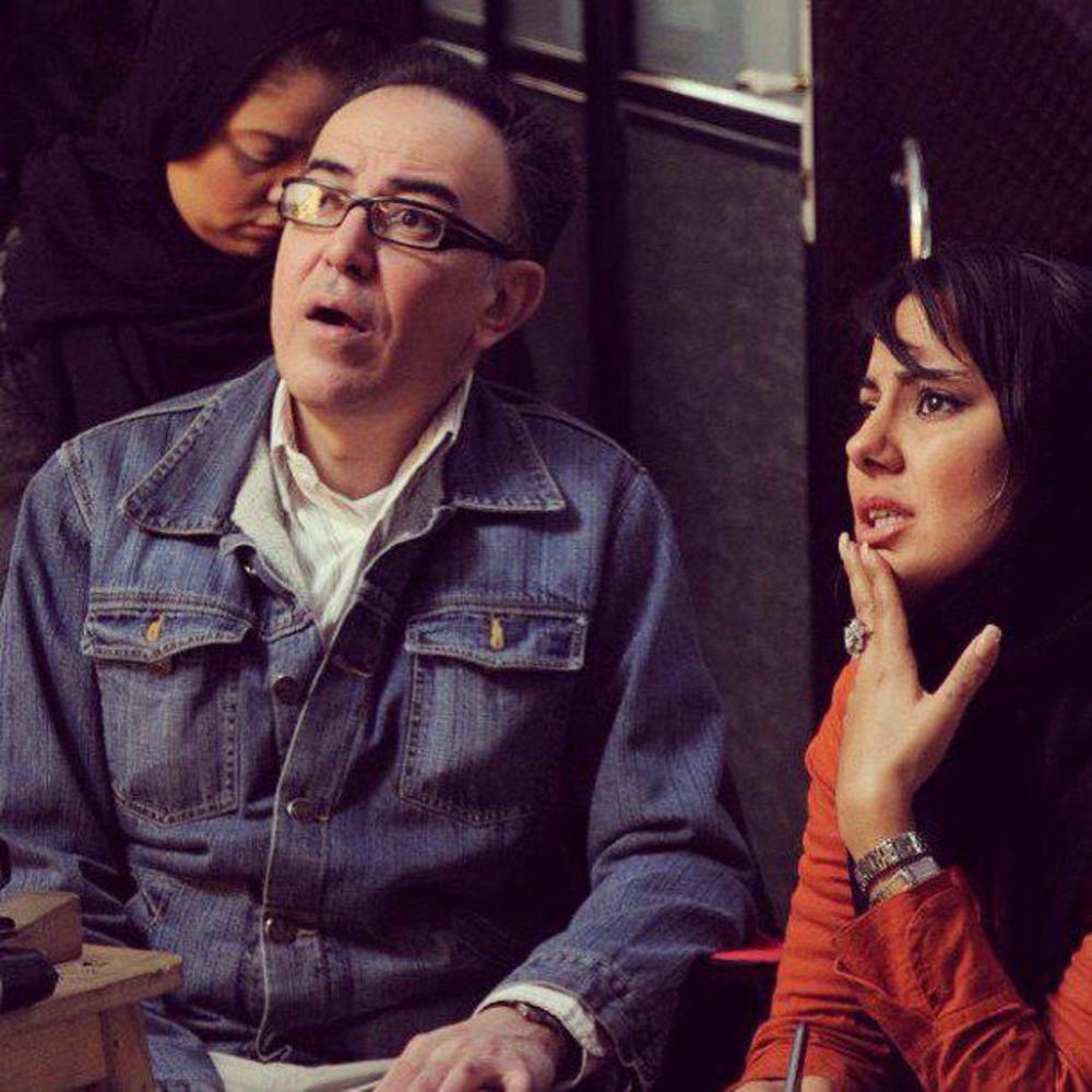 شیدا یوسفی و ایرج کریمی در پشت صحنه فیلم «امیدها و نجواها»