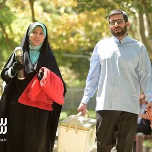 حمید گودرزی و زهرا جهرمی در فیلم «سلام علیکم حاج آقا»