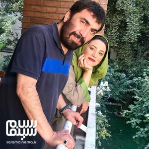 سیامک انصاری و شبنم مقدمی در پشت صحنه فیلم «زهرمار»