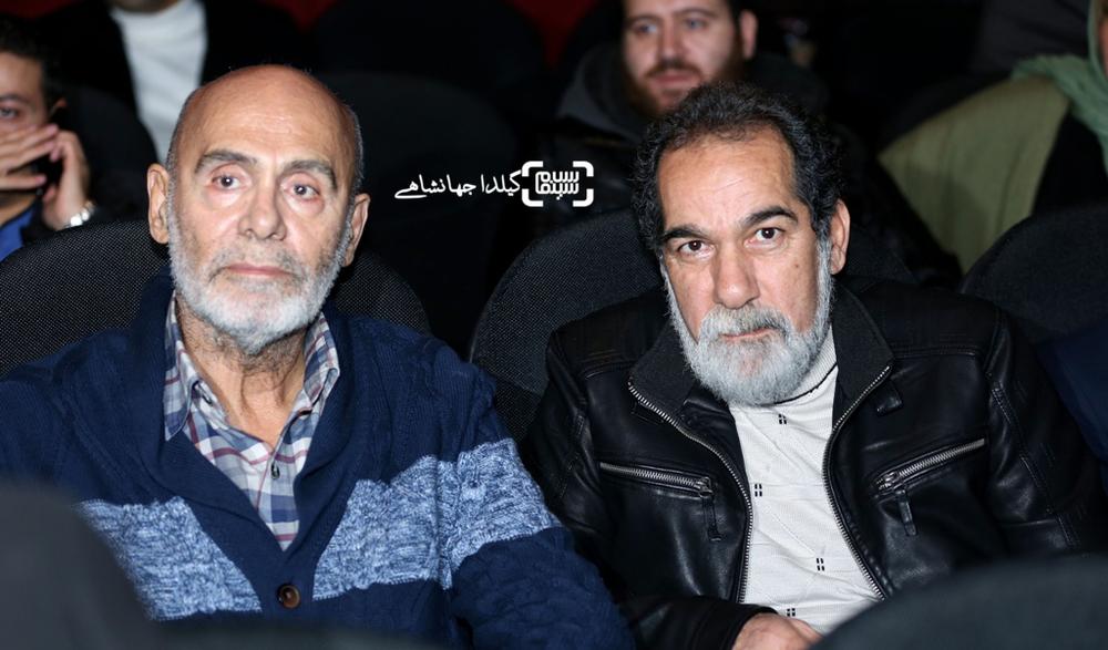 سعیدسهیلی و جمشید هاشم پور در اکران خصوصی فیلم «لاک قرمز»