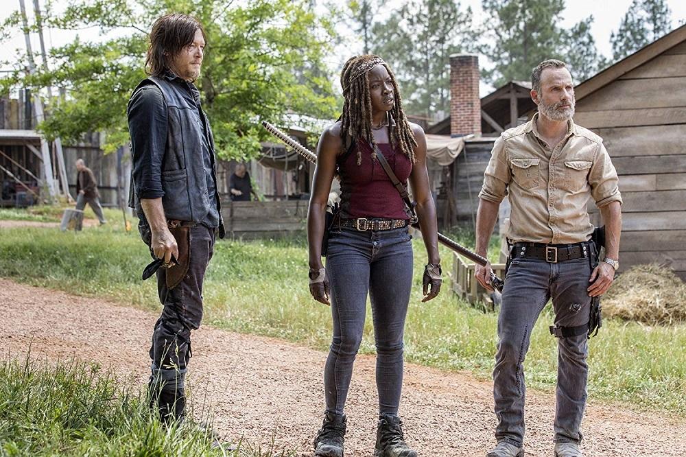 نورمن ریدوس، اندرو لینکلن و دانای گوریرا در سریال «مردگان متحرک» (The Walking Dead)