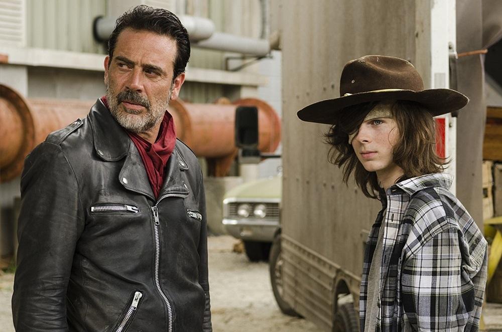 جفری دین مورگان و چندلر ریگز در سریال «مردگان متحرک» (The Walking Dead)