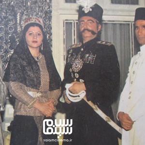 زهرا حاتمی، جمشید مشایخی، پرویز فنی زاده و مرتضی احمدی در پشت صحنه فیلم «امیرکبیر»