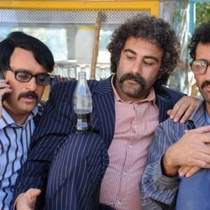 احمد مهرانفر و محسن تنابنده و هادی کاظمی در فیلم ایران برگر