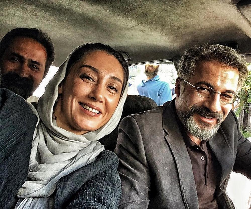 سلفی هدیه تهرانی، وحید جلیلوند و امیر آقایی در پشت صحنه فیلم «بدون تاریخ، بدون امضا»