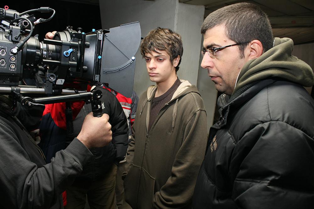 نوید لایقی مقدم و مجید برزگر در پشت صحنه فیلم «فصل باران های موسمی»