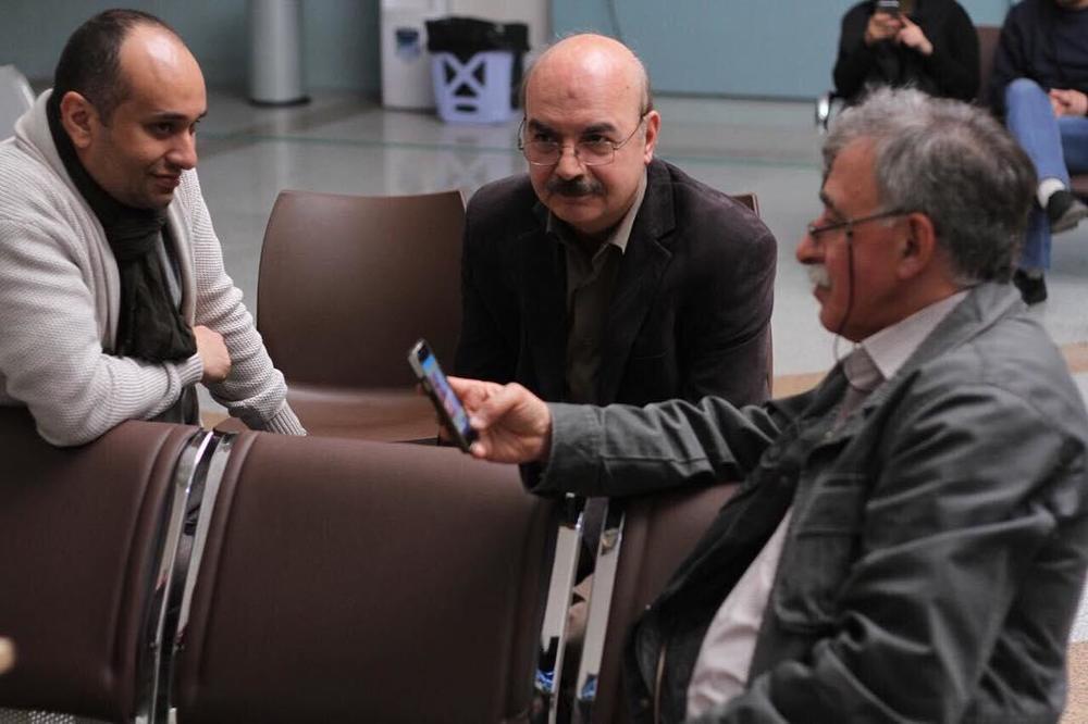 ایرج طهماسب، همایون اسعدیان و مازیار میری در پشت صحنه فیلم «یک روز بخصوص»