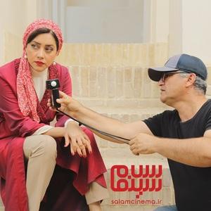 بهاره کیان افشار و ساعد نیک ذات در پشت صحنه فیلم «رویای سهراب»