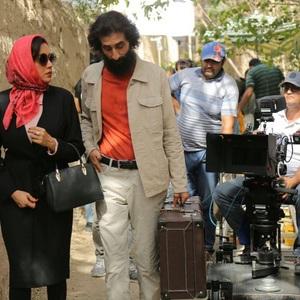 علی قوی تن، بهاره کیان افشار و ساعد نیک ذات در پشت صحنه فیلم «رویای سهراب»