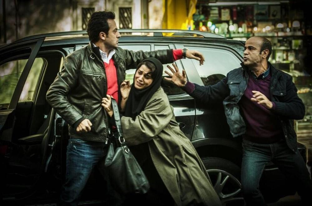 سعید چنگیزیان، غزل شاکری و مصطفی زمانی در فیلم «سارا و آیدا»
