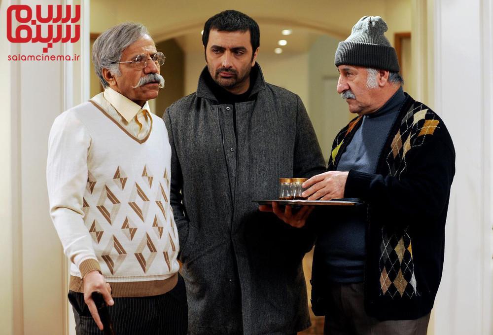 مهران رجبی، امین زندگانی و قاسم زارع زاغه در فیلم «نازلی»