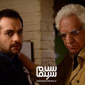 حامد کمیلی و کیومرث پوراحمد در فیلم «جمشیدیه»
