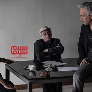 فریدون جیرانی، حمیدرضا آذرنگ و ساعد سهیلی در پشت صحنه سریال «نهنگ آبی»