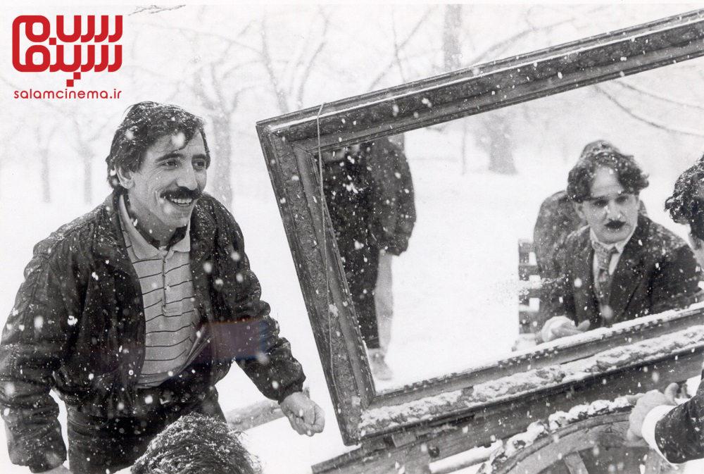 محسن مخملباف و مهدی هاشمی در پشت صحنه «ناصرالدین شاه آکتور سینما»