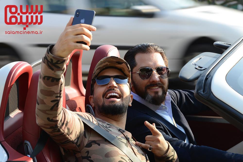 بهرام رادان و مهرداد صدیقیان در سریال «رقص روی شیشه»
