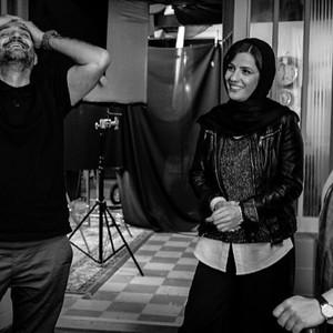 باران کوثری، سارا بهرامی و رضا گوران در پشت صحنه فیلم «سرکوب»