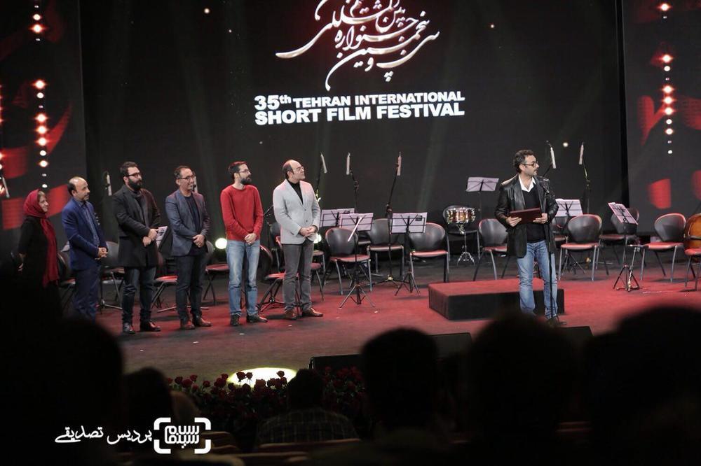 علیرضا ثانی فر برنده دیپلم افتخار بهترین بازیگر مرد برای فیلم کوتاه «تشریح» از جشنواره فیلم کوتاه تهران