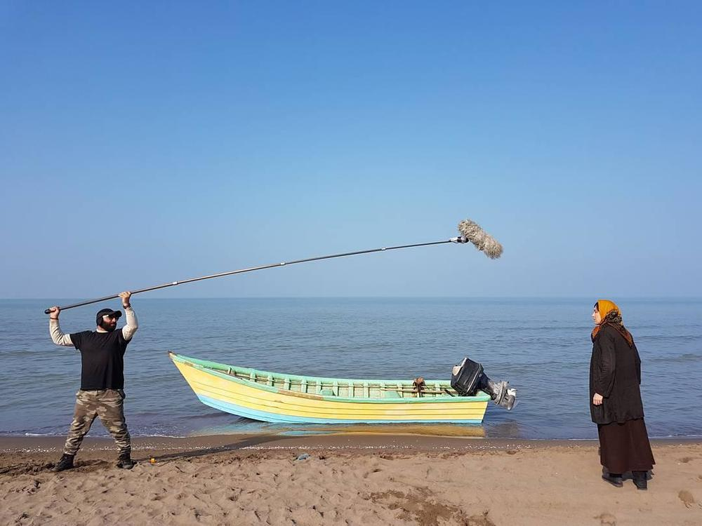 مهتاب کرامتی و سعید بجنوردی در نمایی از پشت صحنه فیلم «ماجان»