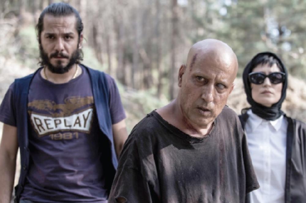 گریم متفاوت سیامک صفری و نگار جواهریان و عباس غزالى در فیلم اعترافات ذهن خطرناک من