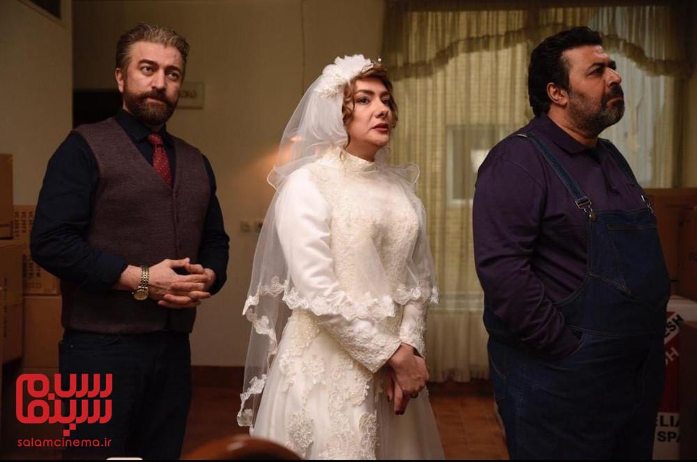 هانیه توسلی، فرهاد اصلانی و مجید صالحی در فیلم «کلمبوس»