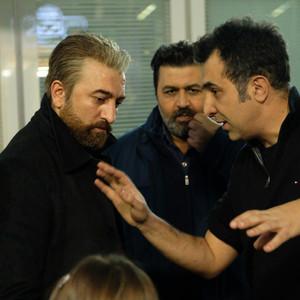 هاتف علیمردانی، فرهاد اصلانی و مجید صالحی در پشت صحنه فیلم «کلمبوس»