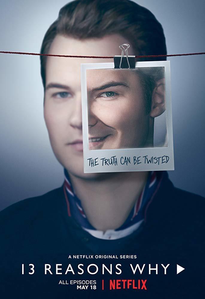 پوستر سریال «13 دلیل برای اینکه» (13 Reasons Why) با بازی جاستین پرنتیس