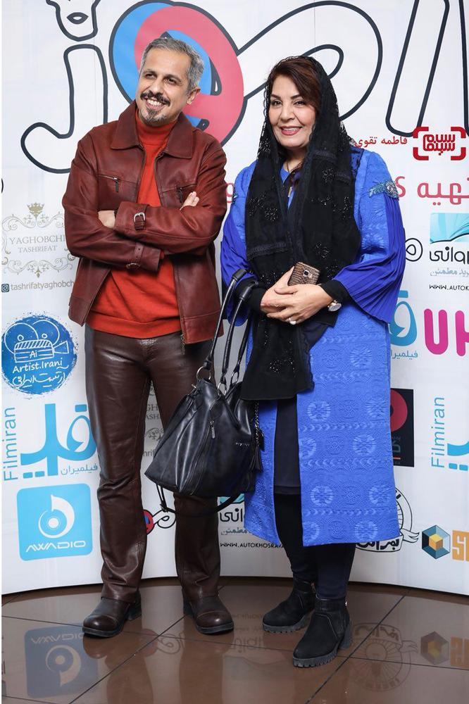 جواد رضویان و زهره حمیدی در اکران خصوصی فیلم «مارموز» در سینما کوروش