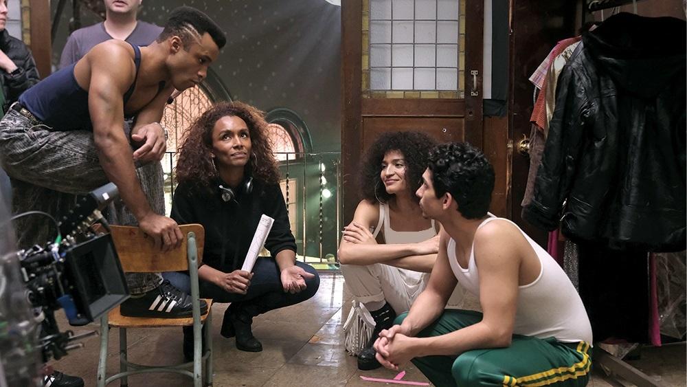 جانت ماک، انجل بیسمارک کوریل و ایندیا مور در پشت صحنه سریال «ژست» (Pose)