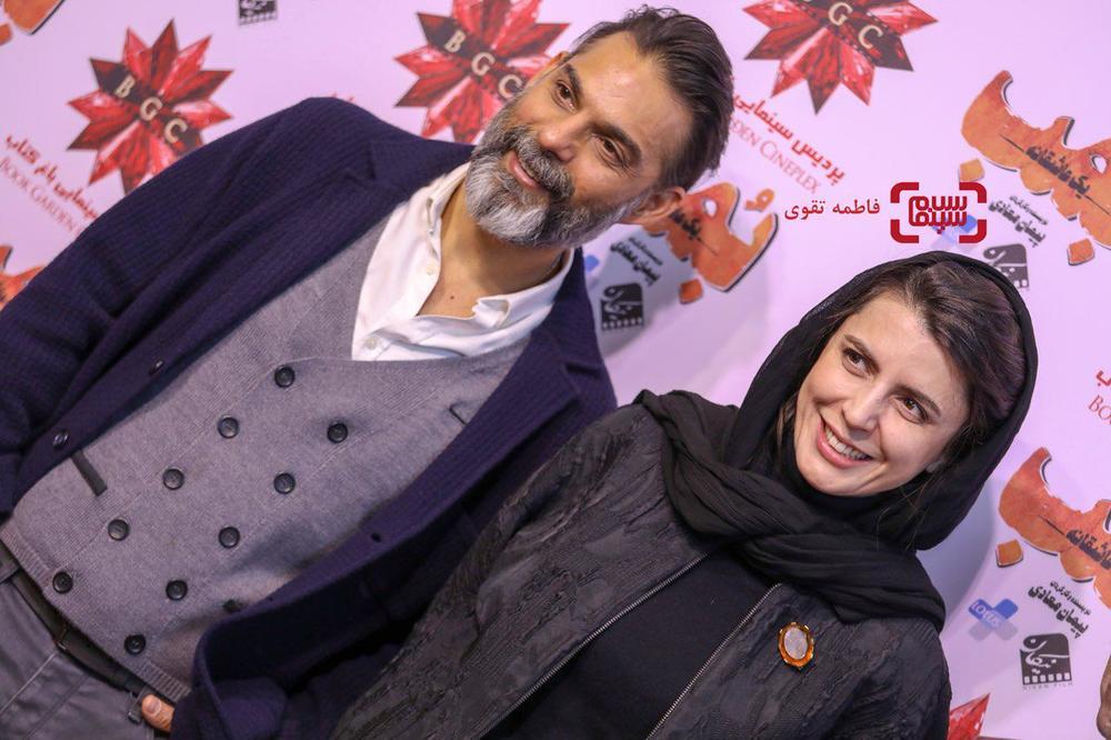 لیلا حاتمی و پیمان معادی در اکران مردمی فیلم «بمب یک عاشقانه» در باغ کتاب