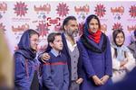 پیمان معادی و ارشیا عبداللهی در اکران مردمی فیلم «بمب یک عاشقانه» در باغ کتاب