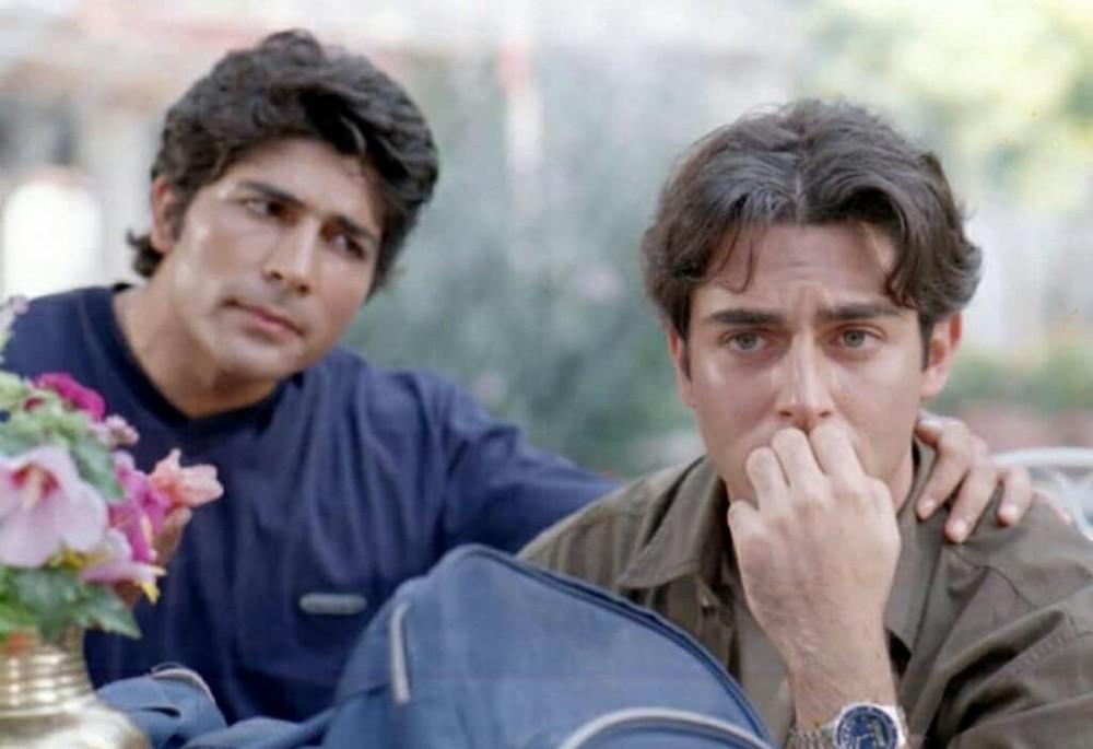 محمدرضا گلزار و محمود کاکاوند در فیلم «سام و نرگس»