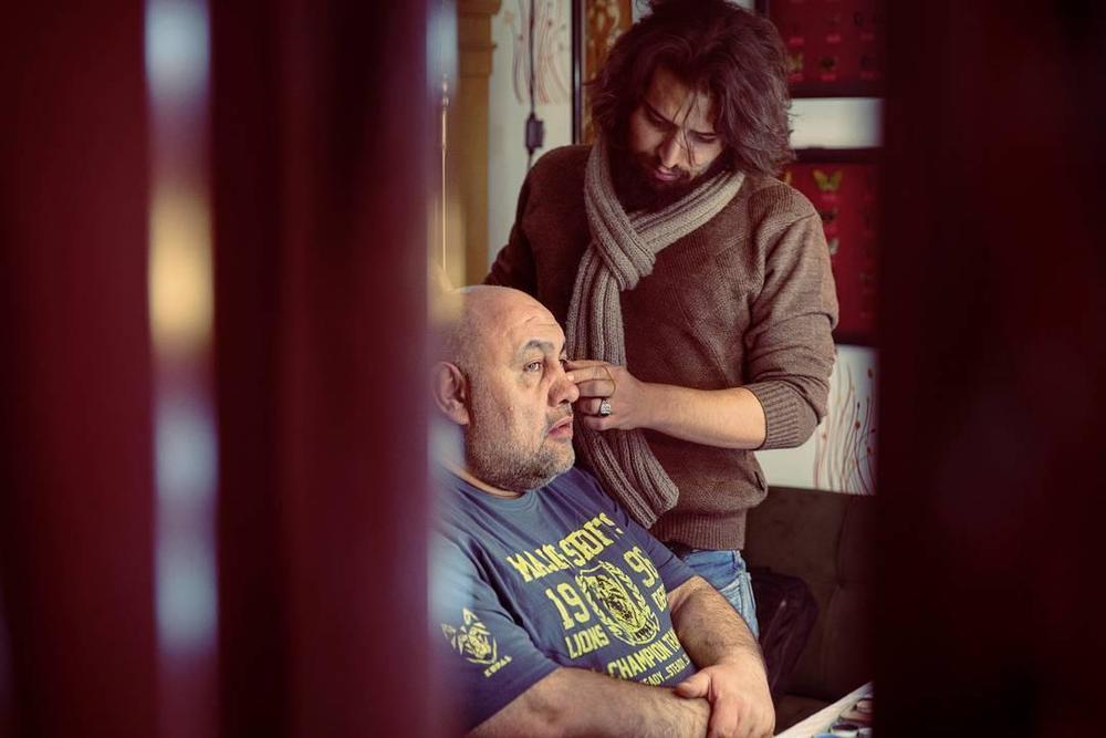 لوون هفتوان و افشین اصلانی در پشت صحنه فیلم «کوپال»