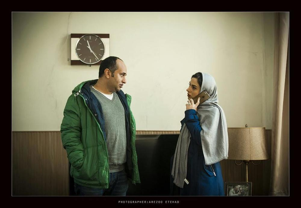 مازیار میری و تینا پاکروان در پشت صحنه فیلم «سارا و آیدا»