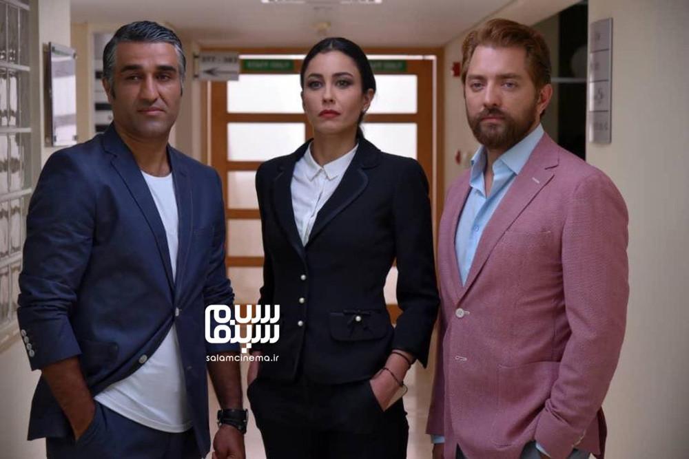 بهرام رادان، واروارا لارمو و پژمان جمشیدی در فیلم «ایده اصلی»