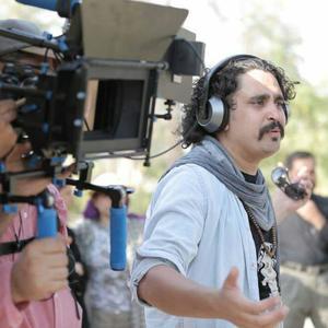 شهرام مسلخی در پشت صحنه فیلم کوتاه «قطعه 85»