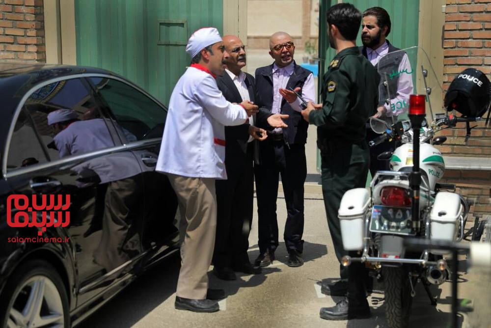 عباس جمشیدی فر، سیاوش چراغی پور و فرزین محدث در سریال «بچه مهندس 2»