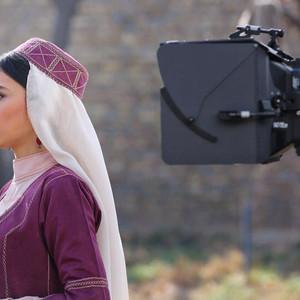 هدی زین العابدین در پشت صحنه فیلم «سمفونی نهم»