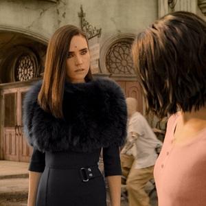 جنیفر کانلی و رزا سالازار در فیلم سینمایی «آلیتا: فرشته جنگ» (Alita: Battle Angel)