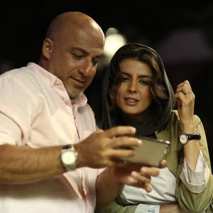 لیلا حاتمی و امیر آقایی در فیلم «مردی بدون سایه»