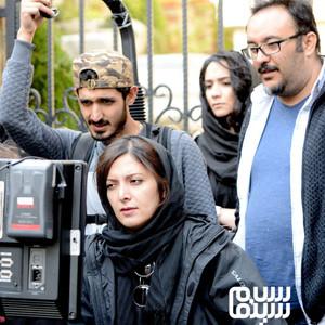 مهدی صالح کرمانی، یلدا جبلی و معین رضا مطلبی در پشت صحنه فیلم «جمشیدیه»