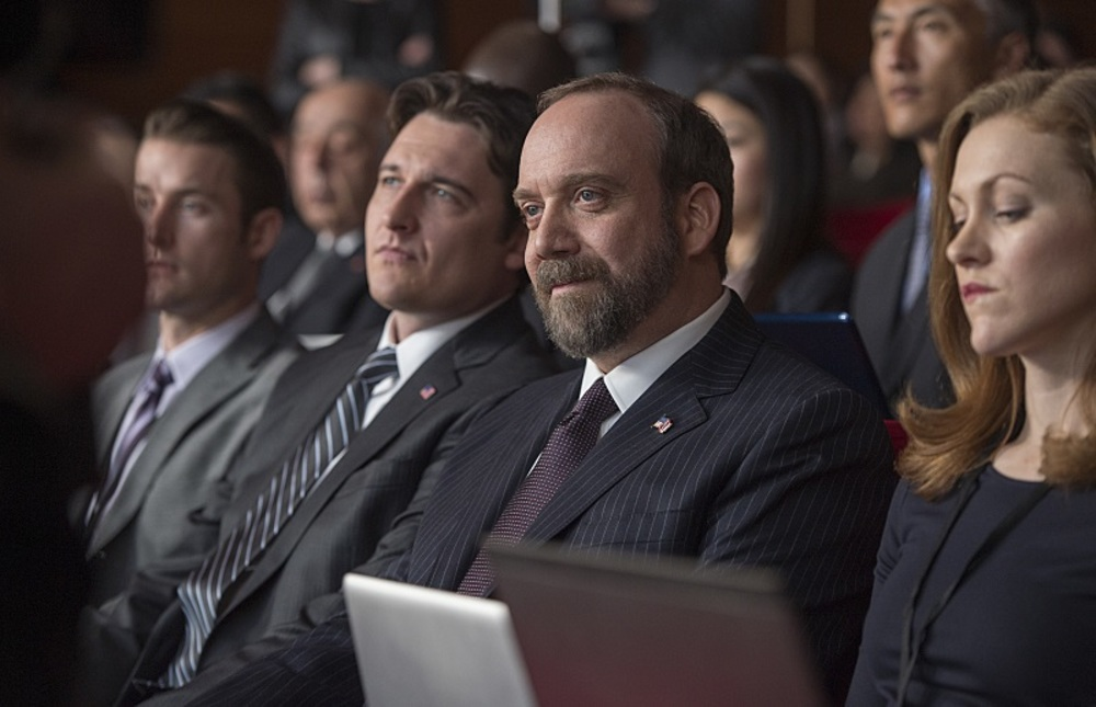 توبی لئونارد مور و پل جیاماتی در سریال تلویزیونی «میلیاردرها» (Billions)
