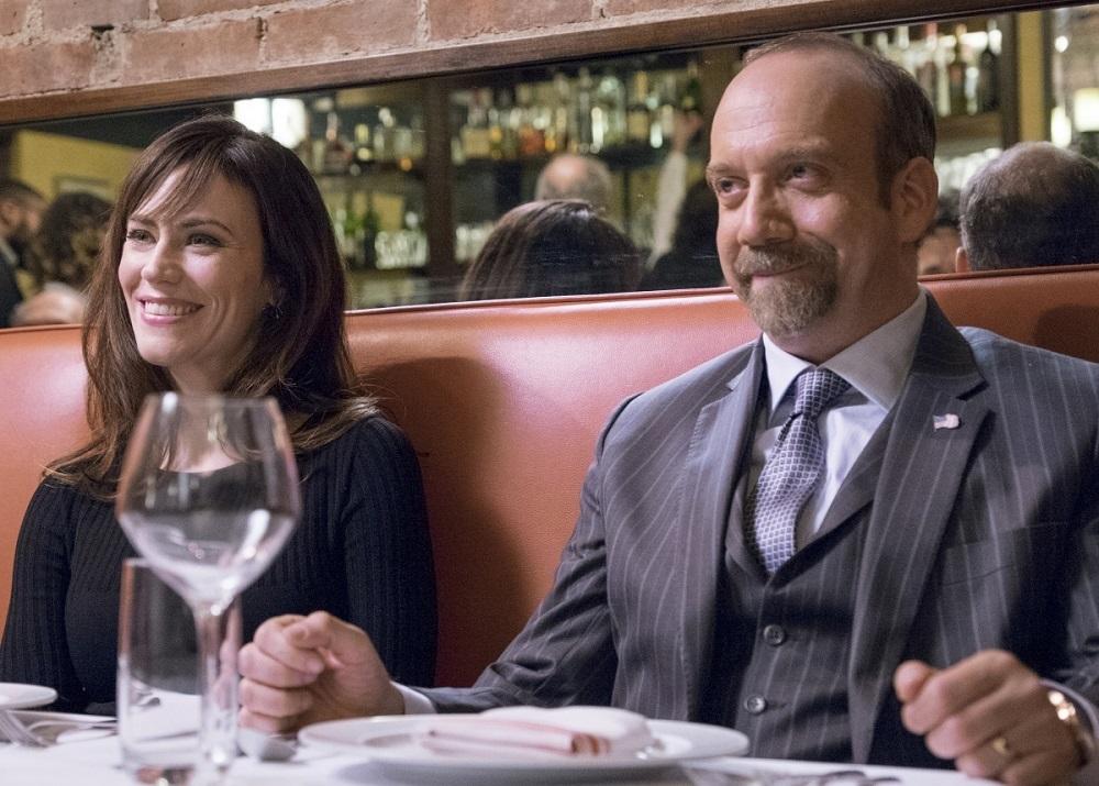 مگی سیف و پل جیاماتی در سریال تلویزیونی «میلیاردرها» (Billions)
