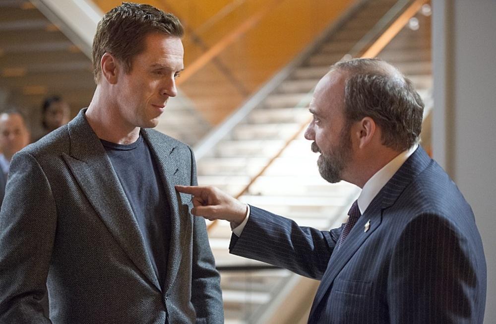 دیمین لوئیس و پل جیاماتی در سریال تلویزیونی «میلیاردرها» (Billions)
