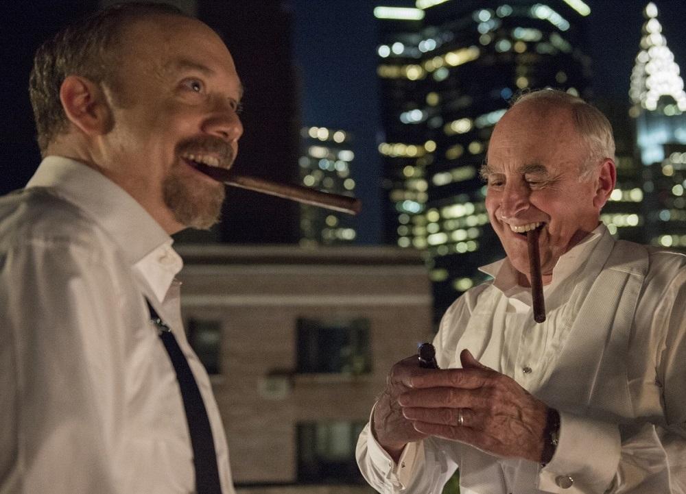 جفری دیمان و پل جیاماتی در سریال تلویزیونی «میلیاردرها» (Billions)